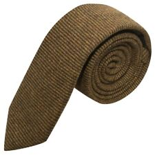 Brown Sharkskin Stripe Tie, Necktie