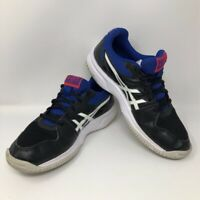 ASICS Womens Upcourt 3 Volleyball Shoes Black 1072A012 Low Top Mesh Lace Up 7