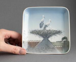 B&G Royal Copenhagen STORK BIRD Trinket/Display DISH Denmark BING & GRONDAHL