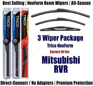 3-Pack Wipers Front & Rear NeoForm - fit 2011+ Mitsubishi RVR - 16240/210/10B
