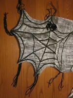 HALLOWEEN - SILVER BLACK SPIDER WEB - TABLE RUNNER - BOMBAY COMPANY DECOR