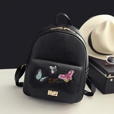 Butterfly Embroidery Fashion Female Leisure Bag Backpack Rucksack Satchel