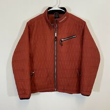 KERRITS Equestrian Fleece Lined Quilted Riding Jacket Womens Size XL Red Black