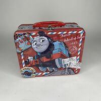 "Thomas The Train & Friends Vintage Red Metal Tin Lunch Box 2000 8""x6""x3"""