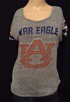 Auburn Tigers War Eagle Rhinestones Logo NCAA SEC College Womens Small Shirt