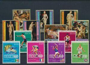 LN82734 Paraguay olympics nude women art fine lot MNH