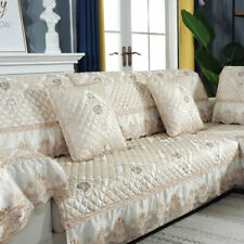 European Lace Linen Sofa Cover Slipcover Sectional Corner Couch 3/4/5 Seater New