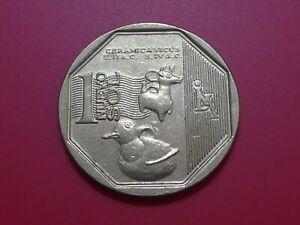 Peru 2015 Coin 1 Nuevo Sol Ceramica Vicus