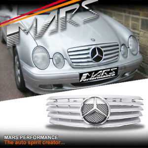 Chrome Silver CL5 Style Front GRILLE GRILL for Mercedes-Benz CLK W208 C208 97-02