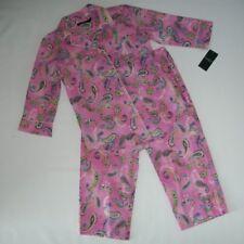 RALPH LAUREN Pink Paisley 2 pc Pajama SET Crop Pant PAJAMAS Womens SMALL NEW