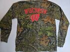 Mossy Oak Wisconsin Badgers Camo Long Sleeve shirt mens L camouflage Frotown Out