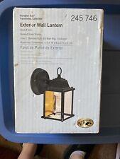 Hampton Bay Exterior Coach Lantern Black Finish Beveled Glass Shade, use 60 Watt
