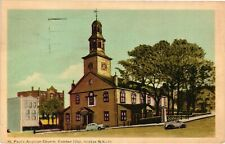 Vintage Postcard - Posted 1949 St Pauls Anqtican Church Halifax Canada #8758
