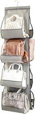 Zober Hanging Purse Organizer for Closet Clear Handbag 48 L x 13.8 Gray