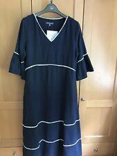 Gorgeous Laura Ashley Sample Prairie Style Linen Dress Size 12