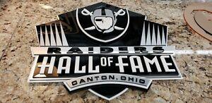 Custom HOF RAIDERS 3D SIGN art man cave football display Las Vegas Nevada Monday
