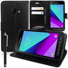 Etui Coque Housse NOIR Portefeuille Video Rabat Samsung Galaxy Xcover 4 SM-G390F