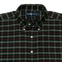 Ralph Lauren The BIG Oxford Men's XL Plaid Long Sleeve Button Down Shirt
