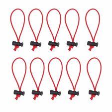 10 PCS Multi-Purpose Toggle Tie/Cable Tie/Organizer for Cord & Cable (Red)