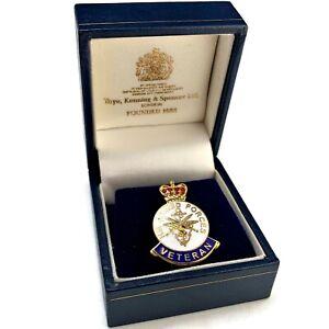 Original HM Armed Forces Veterans Lapel Badge & BOX British Army Medal - TV29