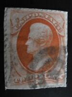 USED space filler Scott #183 1879 Andrew Jackson Vermillion 2 Cent USA STAMP