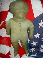 Charming and Rare antique, c1890s, labeled Art Fabric Mills, printed cloth doll