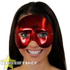 RED TOP HALF FACE PHANTOM MASK VENETIAN MASQUERADE PARTY DRAMA SCHOOL THEATRE