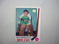 1969/70 O-PEE-CHEE NHL HOCKEY CARD #197 KEN BRODERICK ROOKIE NM SHARP+!! OPC
