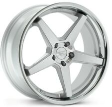 20x9/10.5 Ferrada FR3 5x114 +25 Silver Wheels Fits G35 Coupe 350Z 370Z Mustang