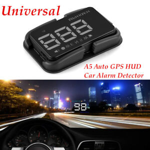 A5 Auto GPS HUD Car Alarm Detector Real Time Speedometer Driving Without Glare