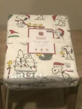 NWT Pottery Barn Christmas Peanuts Snoopy Woodstock Twin Duvet Cover