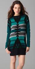 L.A.M.B. Gwen Stefani Intarsia Tunic Sweater Dress Teal XS