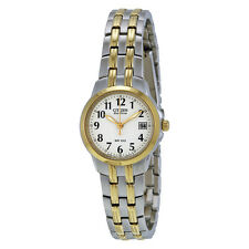 Citizen Silhouette Eco-Drive White Dial Two-tone Ladies Watch EW1544-53A-AU