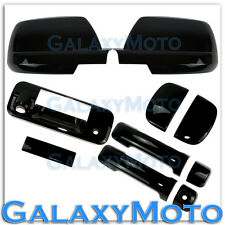 07-13 TUNDRA DOUBLE CAB Black Mirror+4 Door Handle+Tailgate+Camera Hole Cover