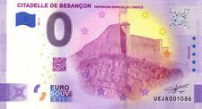 25 BESANCON Citadelle 3, 2021, Billet Euro Souvenir