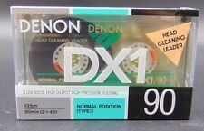 Vintage Blank Denon Cassette Tape DX1 90 Normal Bias IEC Type 1 SEALED