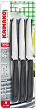 Imperdibile 6 coltelli da tavola seghettati cucina kaimano dentato per carne new