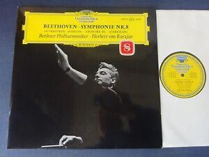 TULIPS NM BEETHOVEN - SYMPHONY NO 8 etc LP, Berlin P/O, Karajan, DG 139 015