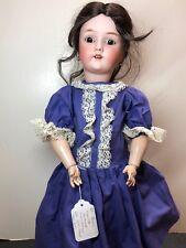 """24"""" Antique German Bisque Doll Heinrich Handwerck S & H 69 12x Brunette Braid"""