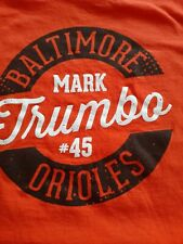 Mark Trumbo #45  Baltimore Orioles Tee-Shirt size Xl front & back graphics.