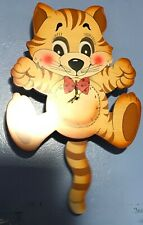 Bartolucci Tiger Clock /Swinging Pendulum-Wooden - Italian Crafted
