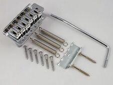 Gaucher Chrome Tremolo Pont, Trem Arm + toutes les vis pour Stratocaster Guitar