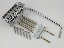 Left Handed CHROME TREMOLO BRIDGE, TREM ARM + All screws for Stratocaster guitar
