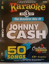 CHARTBUSTER KARAOKE CDG  JOHNNY CASH (5050)  3 DISC BOX SET  50 TRACKS   NEW