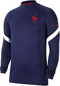 Nike Men's France Dri-Fit Strike Drill Top T-Shirts Soccer Football CD2194-400