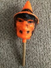 Vintage Halloween Bayshore Witch Head Rattle Blow Mold