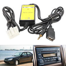 Car USB 3.5mm Aux In Adapter Cable Radio Interface For Mazda 3 5 MX5 MPV RX8