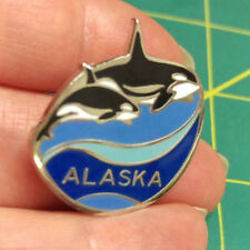 Alaska Pin Orca killer whales Beautiful Tie Tac Lapel Pin cool Collectible!
