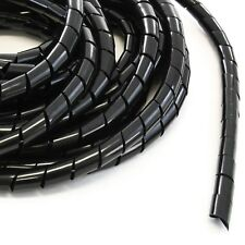 """33FT PE 3/4"""" 20 mm Black Polyethylene Spiral Wire Wrap PC for Car Computer Cable"""