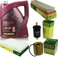Motor-Öl 5L MANNOL 5W-30 Combi LL+MANN-FILTER Peugeot 308 4A_ 4C_ 1.6 BioFlex